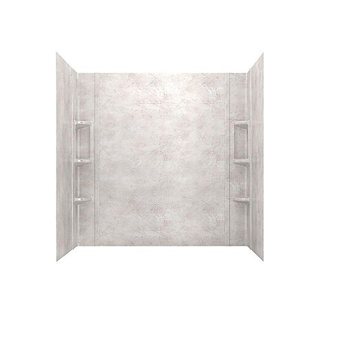 American Standard Colony 32-inch x 60 inch 5-Piece Glue-Up Alcove Bath Wall Set in Beige Parchment