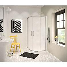Radia 36-inch x 36-inch x 72-inch Framed Neo-Round Sliding Shower Door in Chrome Mistelite