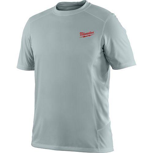 Milwaukee Tool Men's 2X-Large Work Skin Gray Light Weight Performance Shirt