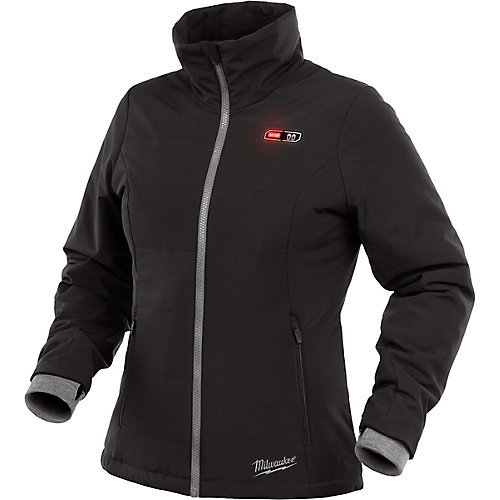 Women's Small M12 12V Lithium-Ion Cordless Black Heated Jacket (Jacket Only)