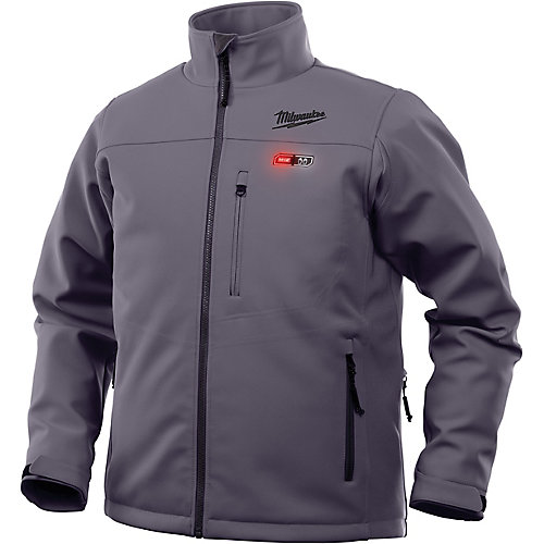 Men's X-Large M12 12V Lithium-Ion Cordless Gray Heated Jacket (Jacket Only)