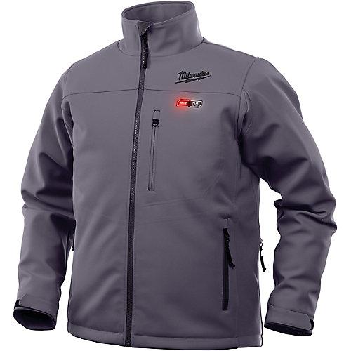 Men's Medium M12 12V Lithium-Ion Cordless Gray Heated Jacket (Jacket Only)