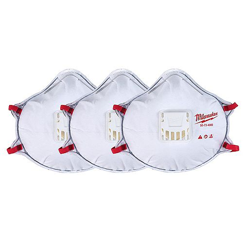Milwaukee Tool Professional N95 Multi-Purpose Valued Respirator with Gasket  (3-Pack)