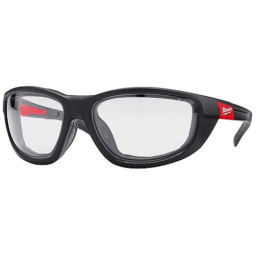 High performance safety glass with clear Lenses and Gasket