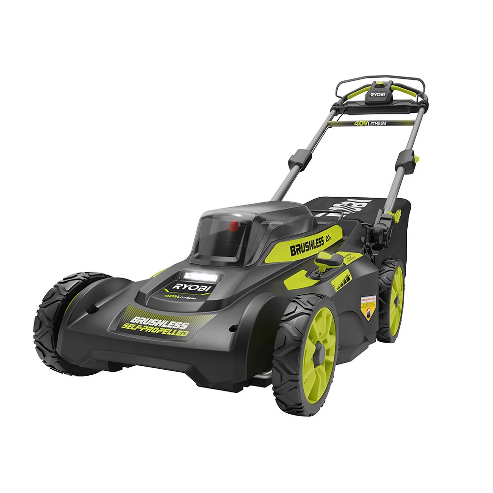 20-inch 40V Brushless Lithium-Ion Cordless Walk Behind Self-Propelled Lawn Mower with 6.0Ah Battery