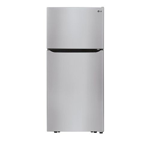 LG Electronics 30-inch W 20 cu. ft. Top Freezer Refrigerator in Stainless Steel