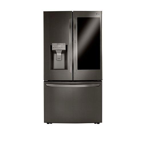 LG Electronics 36-inch W 30 cu. ft. French Door Refrigerator with InstaView Door-in-Door® in Smudge Resistant Black Stainless Steel - ENERGY STAR®