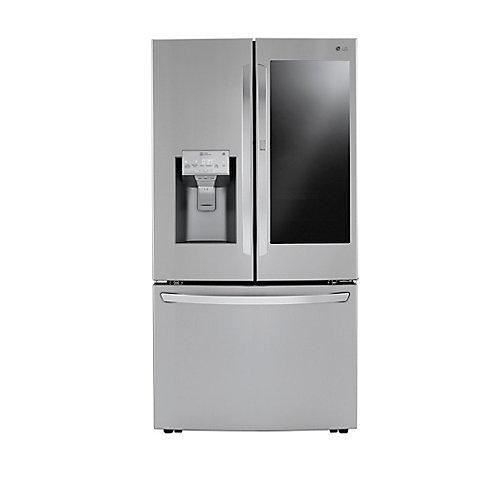 36-inch 30 cu. ft. InstaView 3-Door French Door Refrigerator with Craft Ice in Stainless Steel