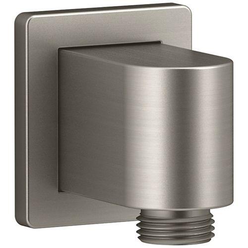 Awaken Wall-mount supply elbow in Vibrant Brushed Nickel