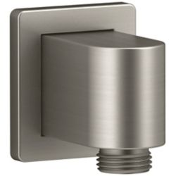Awaken Wall-mount supply elbow with check valve in Vibrant Brushed Nickel