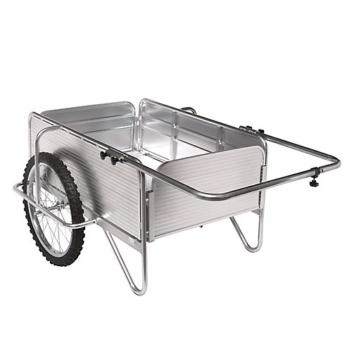 Chariot de jardin robuste et tout usage en aluminium et à panneaux amovibles Sun Joe SJ-ALGC