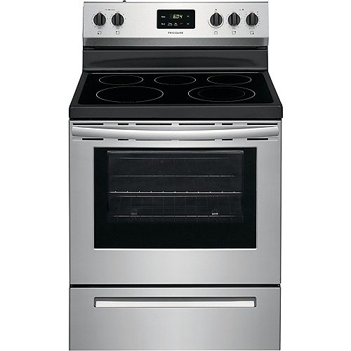 Frigidaire 30-inch 4.8 cu. ft. Freestanding Electric Range with Quick Boil in Stainless Steel