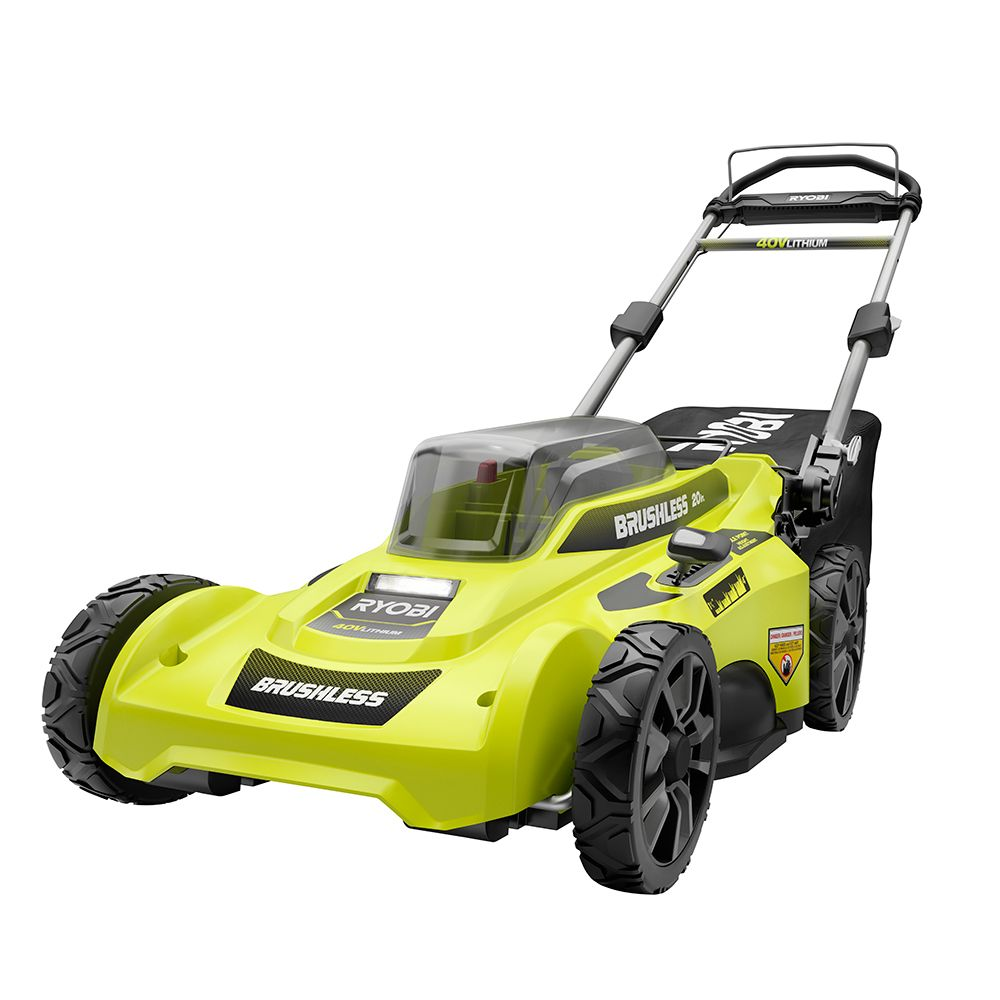 Ryobi 20-inch 40V Brushless Lithium-Ion Cordless Walk Behind Push Lawn Mower RY401110