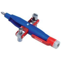 Knipex 6 inch Pen Style Universal Control Cabinet Key with Built-In Tester