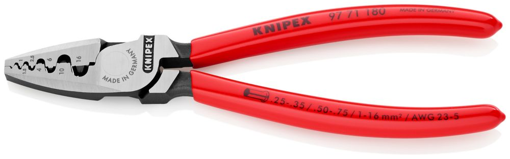 CABLE LINKS 97 71 180 Knipex 7.25 inch CRIMPING PLIERS