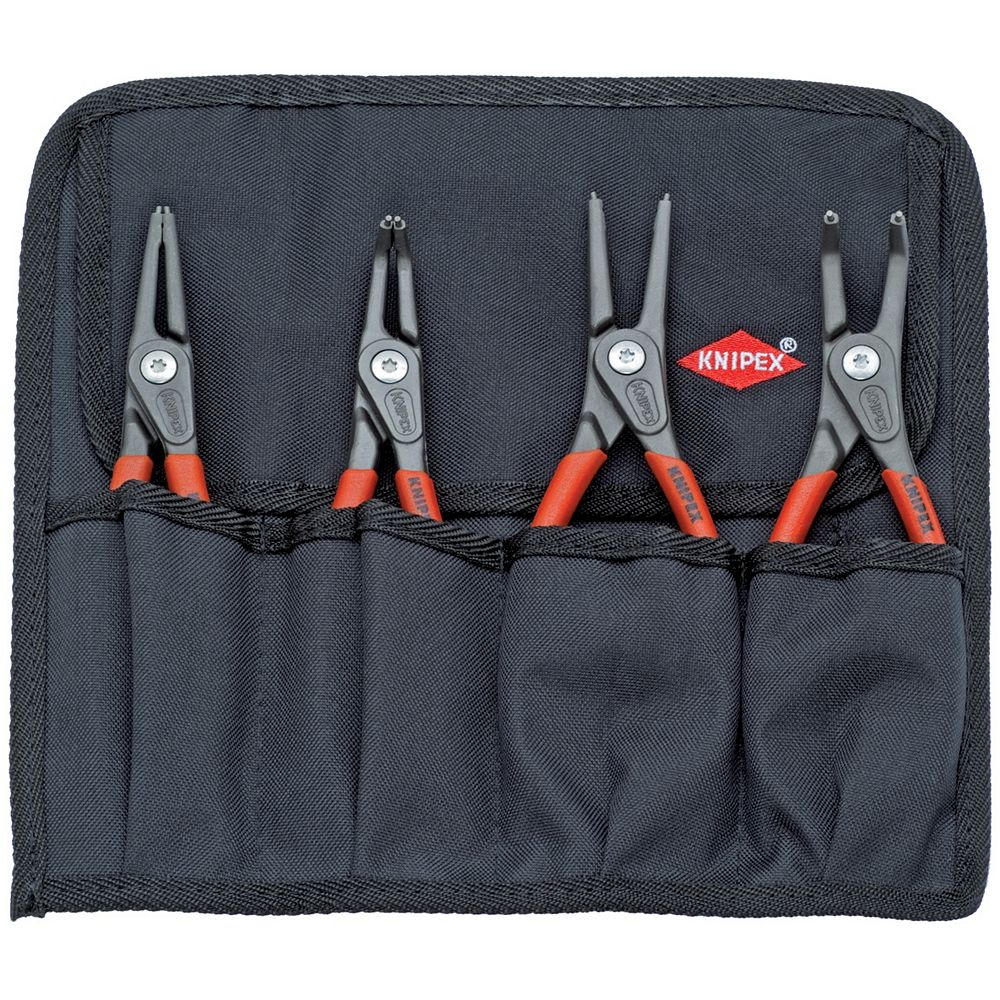 Knipex Precision Snap Ring Pliers Set in Tool Roll (4-Piece)