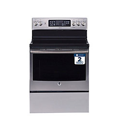 30-inch W Freestanding Single Oven Electric Convection Range in Stainless Steel