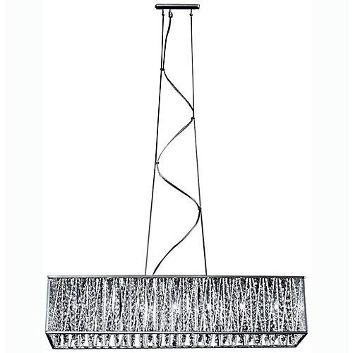 Lustre à sept ampoules avec des accents en aluminium chromé, finition chromée - 33.75 inches