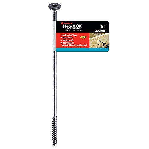 FastenMaster #3 x 8-inch Flat Head SpiderDrive(TM) HeadLOK Structural Wood Screw - 1pc