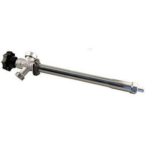 Jag Plumbing Products Robinets anti-gel pour pelouse avec brise-vide à vidange automatique - 1/4 tour (1/2 po PEX x 8 po)
