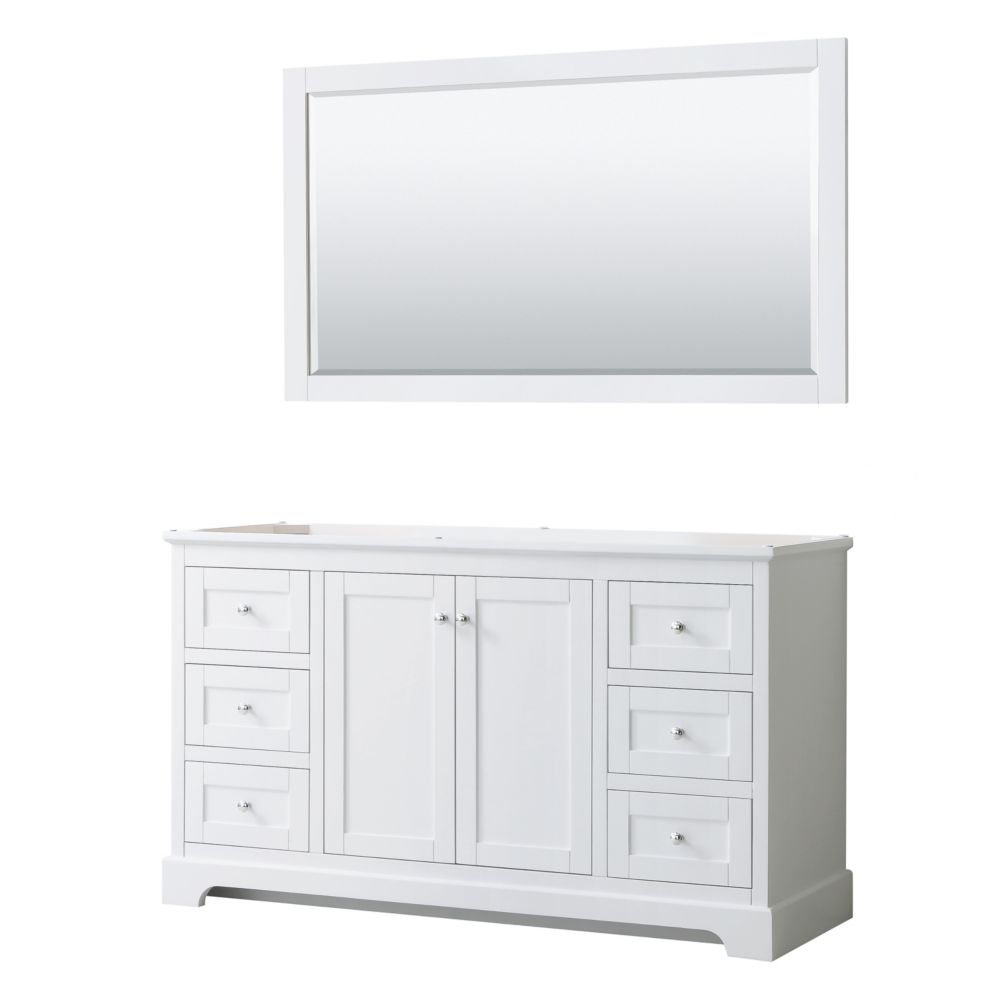 Wyndham Collection Avery 60 Inch Single Bathroom Vanity in ...