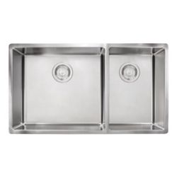 Franke Cube Undermount 18 Gauge Stainless Steel 31.5 inch 60/40 Double Bowl Kitchen Sink