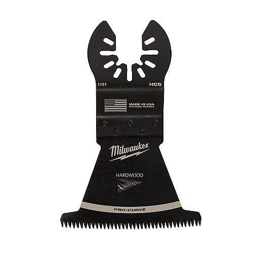 Milwaukee Tool 2-1/2-inch Japanese Tooth Hardwood Cutting High Carbon Steel Oscillating Multi Tool Blade (1 Pack)