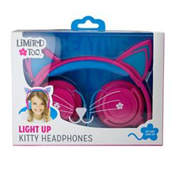 Limited Too Too Light Up Kitty Headphones - Purple