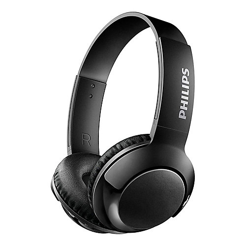 Wired On-Ear BASS+ Headphones, Black