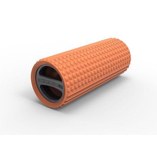 Sharper Image Image Exercise Foam Roller with Embedded Bluetooth Speaker - Orange