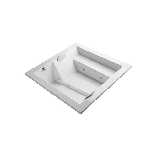KOHLER 69 inch x 69 inch drop-in whirlpool without jet trim in White