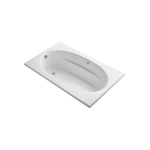 72 inch x 42 inch drop-in BubbleMassage Air Bath in White
