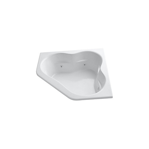 60 inch x 60 inch drop-in whirlpool with integral flange and center drain in White