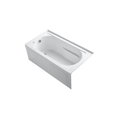 60 inch x 32 inch alcove BubbleMassage Air Bath with integral apron in White