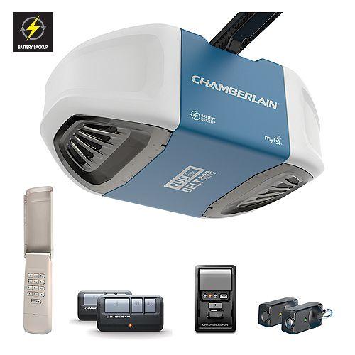 Chamberlain 3/4 HPR Equivalent DC Belt Drive Garage Door Opener with BBU Plus Lift Power