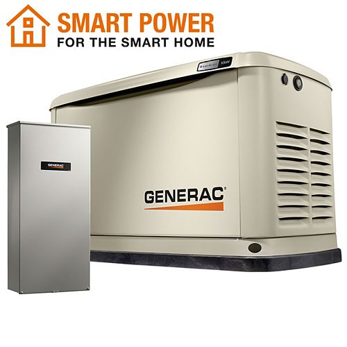 Generac Guardian 10kW WiFi-Enabled Home Backup Generator with 16-Circuit Transfer Switch