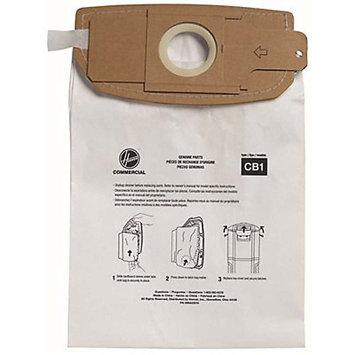 Hoover Company Self-Sealing Sealing Standard Vacuum Bag, For Ch34006, Ch93406, 10 Per Pack