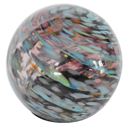 7 inch Art Glass Solar Gazing Ball, Amethyst