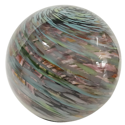 5 inch Art Glass Solar Gazing Ball, Amethyst