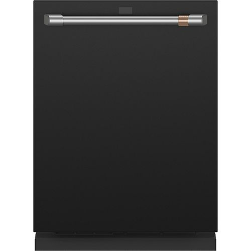 Café 24-inch Top Control Built-In Dishwasher with Stainless Steel Interior in Matte Black