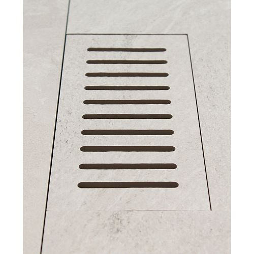 DGM Enterprises Made2Match Elaine Riverstone Off-White 5-inch x 11-inch Flush Mount Porcelain Tile Vent