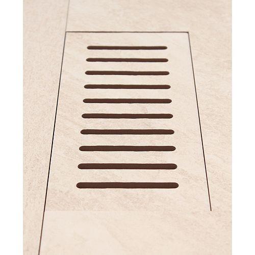 DGM Enterprises Made2Match Elaine Riverstone Sand 5-inch x 11-inch Flush Mount Porcelain Tile Vent