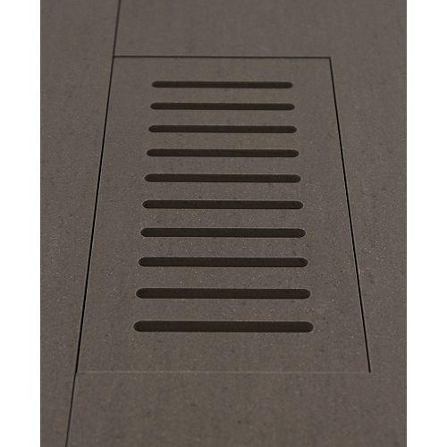 DGM Enterprises Made2Match Enigma Division Graphite Matte 5-inch x 11-inch Flush Mount Porcelain Tile Vent
