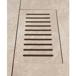 DGM Enterprises Made2Match Lifeproof Silverlake 5-inch x 11-inch Flush Mount Porcelain Tile Vent