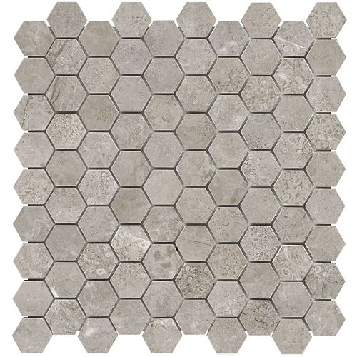 Enigma Salo 1.25-inch x 1.25-inch Hexagon Polished Marble Mosaic Tile (10 sq.ft. / case)