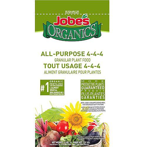 Jobe's Organic 4 lbs. All-Purpose 4-4-4 Granular Plant Food