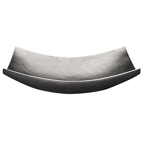 Premier Copper Products 18 inch Rectangle Modern Slope Copper Sink in Nickel