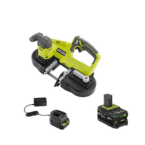18V ONE+ Cordless Portable Band Saw with (1) 4.0 Ah Lithium-Ion Battery and Charger