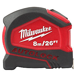 8M/26 ft. Milwaukee Compact AUTOLOCK Tape Measure