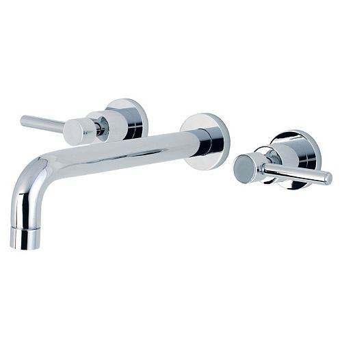Kingston Brass Concord 2-Handle Wall-Mount Roman Tub Faucet Filler in Chrome